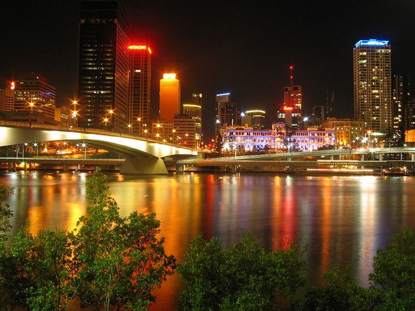 trip to Brisbane- Brisbane night scene- Australia