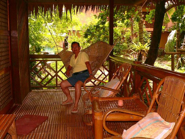 guest house with garden on Boracay Island- PHilippines