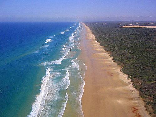 Fraser Island aerial view