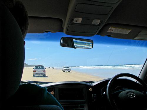 driving Fraser Island