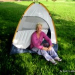 Lash camping with tent