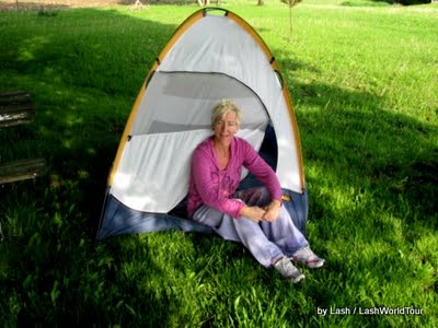 travel story- LashWorlTour- tent camping