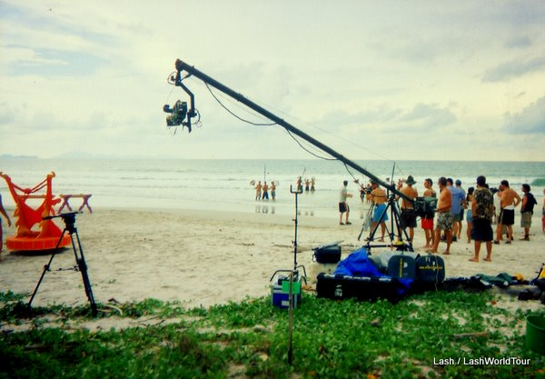 filming a challenge game for Survivor TV Series in Thailand