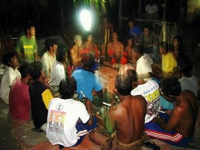 Balinese gamelan orchestra- Hindu ceremony- Bali
