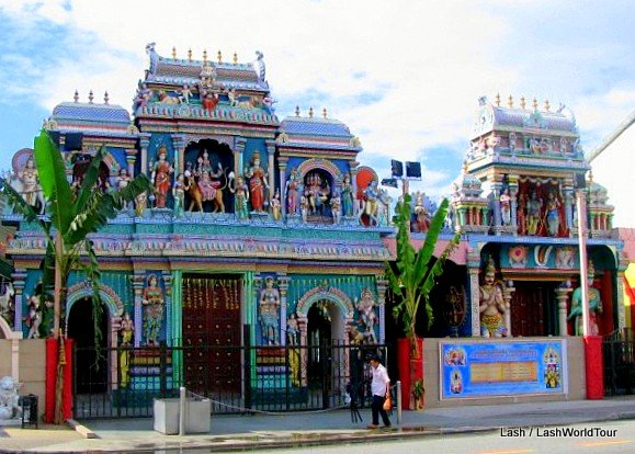 Indian Hindu temple in Little India