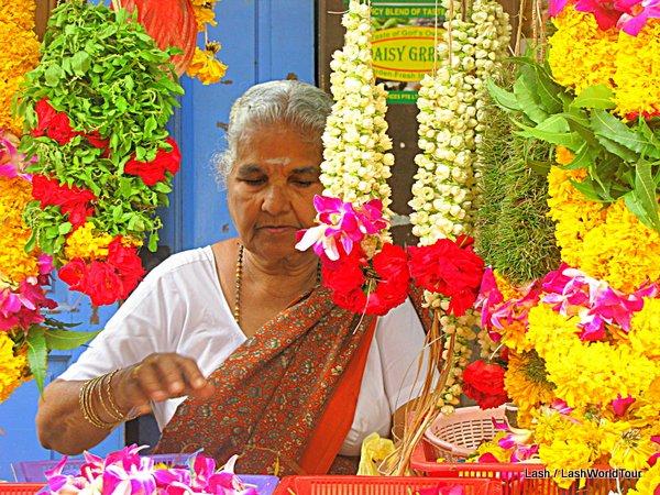 LIttle India- Flower vendor