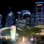 tings to do in Singapore- Merlion night view