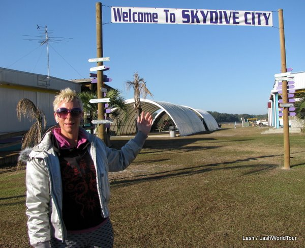 Arriving at  Skydive City in Zephyrhills- Florida