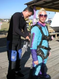 Lash sky diving in St Pete, Florida