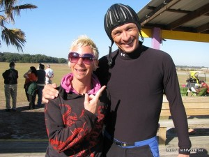 sky diving with instructor Nigel