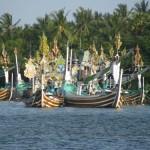 java boats at Negara, Bali