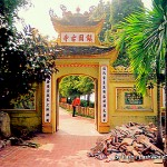 temple at Hoam Kien Lake, HANOI, VIETNAM,