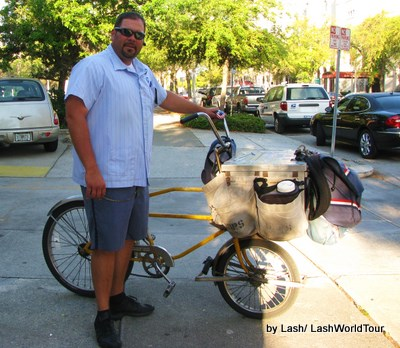 St Petersburg Florida- cycling postmen