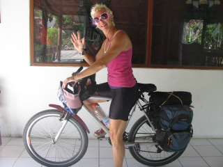 cycling Bali -Lash on bike