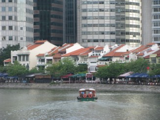 boat quay on the Singapore River