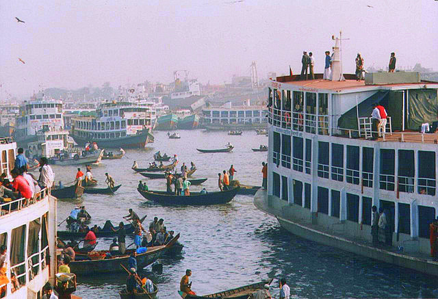 Dhaka steamers - photo by Ahron de Leeuw on Flickr CC