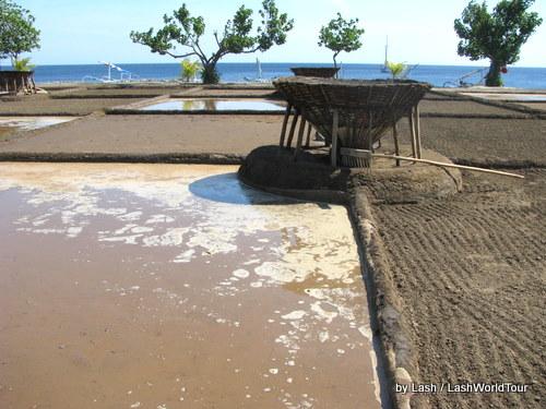 Seaside salt-making paddies in Amed