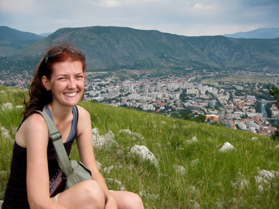 travel interview- Shannon at Mostar, Bosnia and Herzegovina