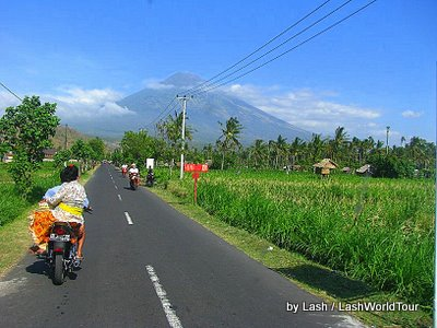 Mt Agung from Amed road- Bali
