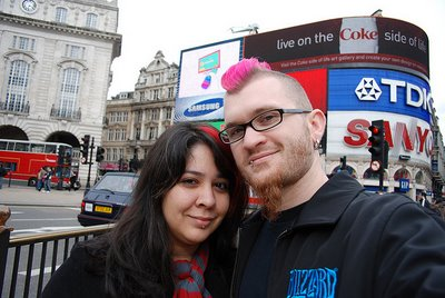 Erica and Shaun of Over Yonderlust in London