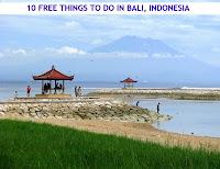 Mt Agung from Sanur Beach