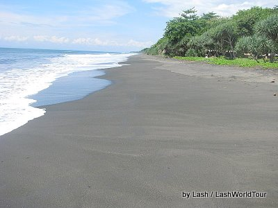 empty beach in southwest Bali