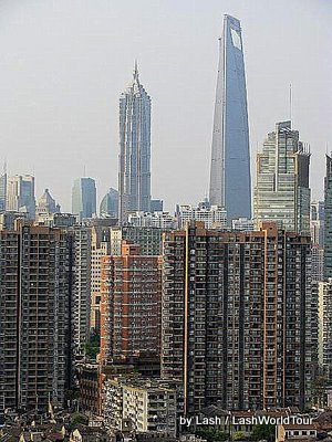 life in Shanghai-Shanghai skyline- skyscrapers
