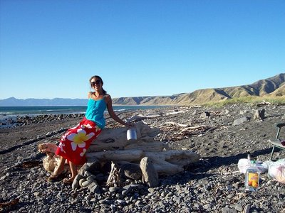 travel interview- Jasmine camping outside of Wellington, New Zealand