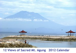 Cover 2012 Calendar: 12 Views of Mt. Agung