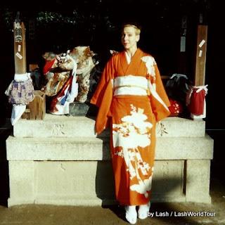 Lash+in+orange+kimono