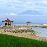 Mt Agung from Sanur beach- Bali