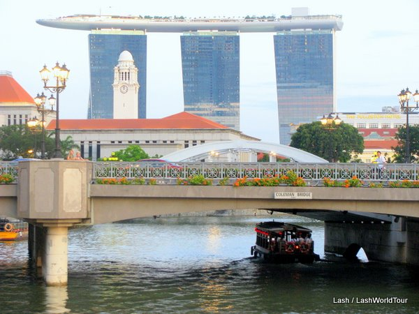 Marina Sands from Singapore River- Singapore