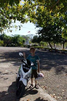 Zac Sutcliffe With the Motorbike