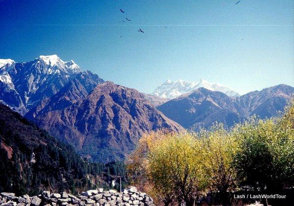 Annapurna Range of Himalayan Mountains