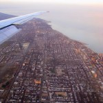 Chicago from airplane