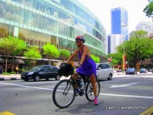 Lash cycling in Kuala Lumpur