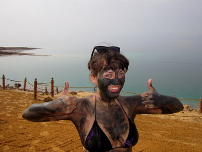 Adventurous Kate in Jordan at the Dead Sea