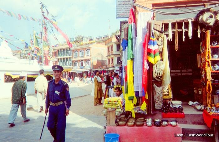 Boudhanath Stupa plaza- Kathmandu