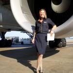 Nina Schwarz, head flight attendant with Lufthansa