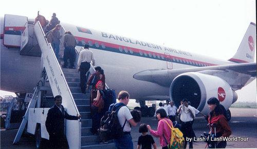 Lash boarding flight in Bangladesh