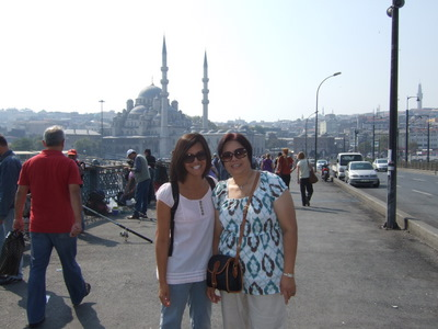 Connie Hum with mom visiting in Istanbul, 2009