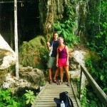 Lash hiking with friend at Niah Cave, Sarawak, Borneo
