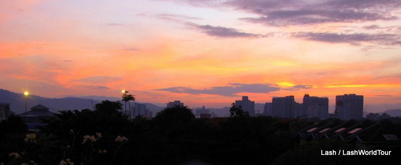 sunrise over Kuala Lumpur
