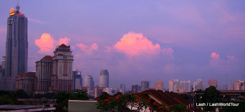 stormy sunrise over Kuala Lumpur, Malaysia