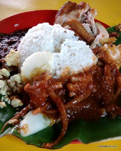 nasi lemak - the Malaysian version of the English Big Breakfast