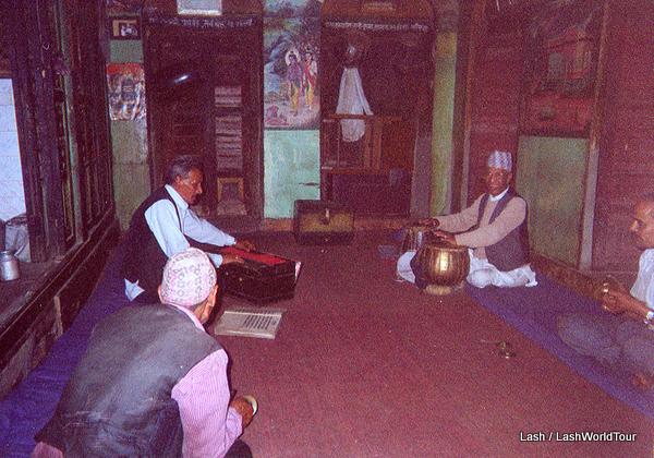 Local musicians practicing in Kathmandu