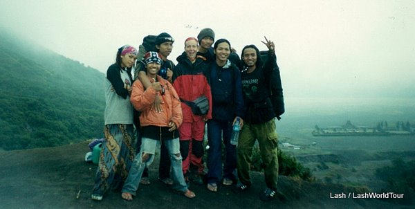 Lash trekking at Mt Bromo-Java-Indonesia with Javanese hikers