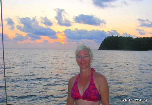 Lash at sunset on Langkawi Island