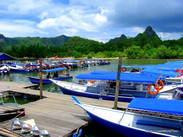 Kilim River mangrove tour boats on Langkawi