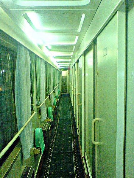 Chinese train corridor